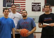 Basket-ball contre frisbee
