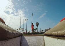 Saut à la perche avec une caméra GoPro!