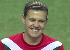 Entrevue avec Christine Sainclair – attaquante pour l'équipe canadienne de soccer