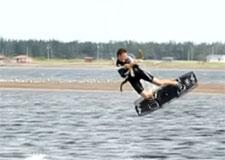 Un Québécois champion de surf-cerf-volant