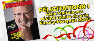 Félix Maltais, récipiendaire du prix Fleury-Mesplet