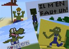 Beppo dans le monde de Minecraft