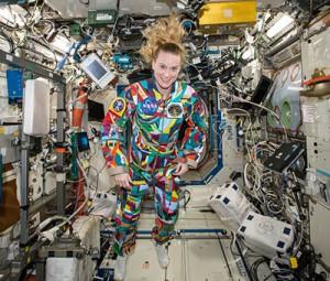 La combinaison « courage » de l'astronaute Kate Rubins