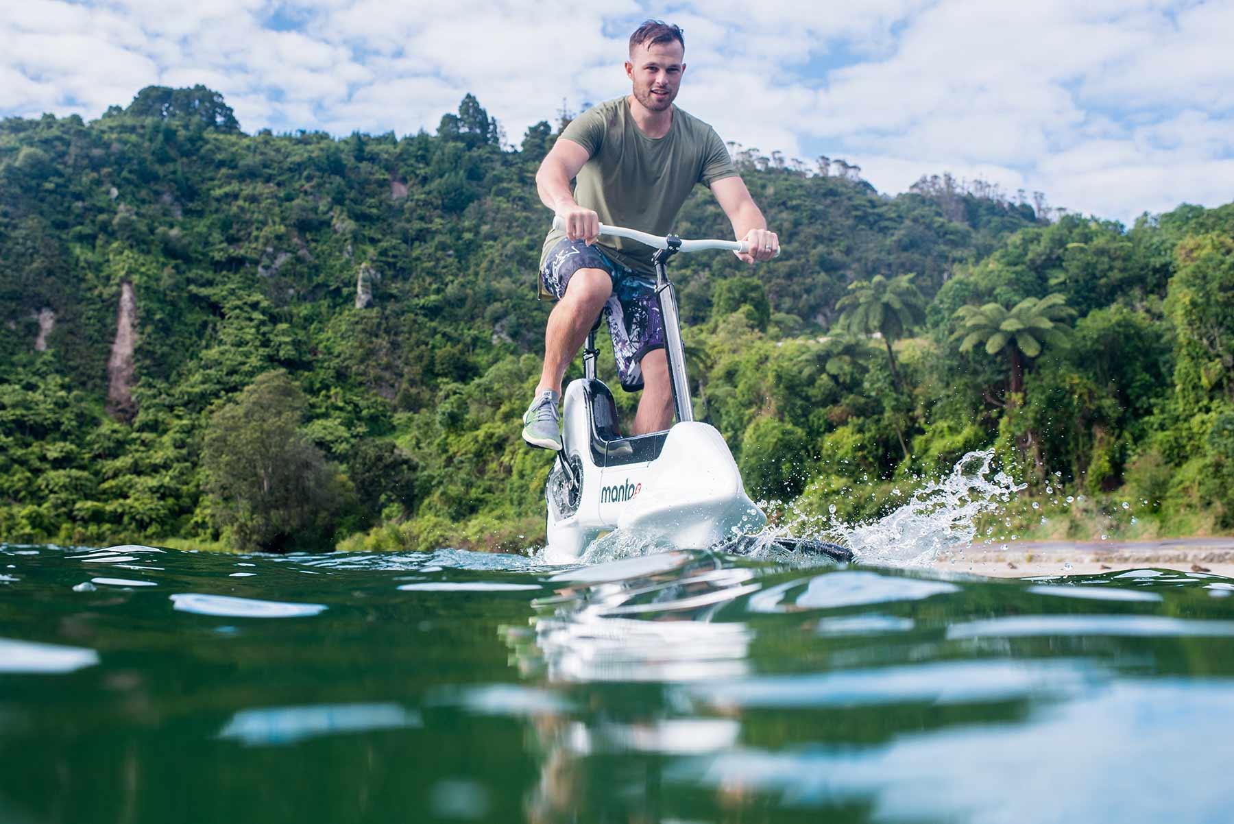 Un vélo électrique… flottant