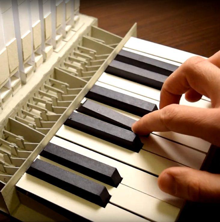 Jouer sur un orgue... en papier