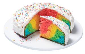 La recette de gâteau arc-en-ciel