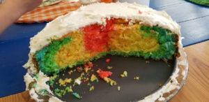 Le gâteau arc-en-ciel