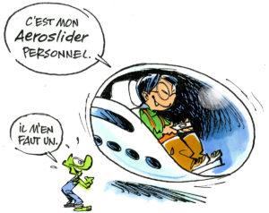 Découvre l'AeroSlider : un train volant ultrarapide !