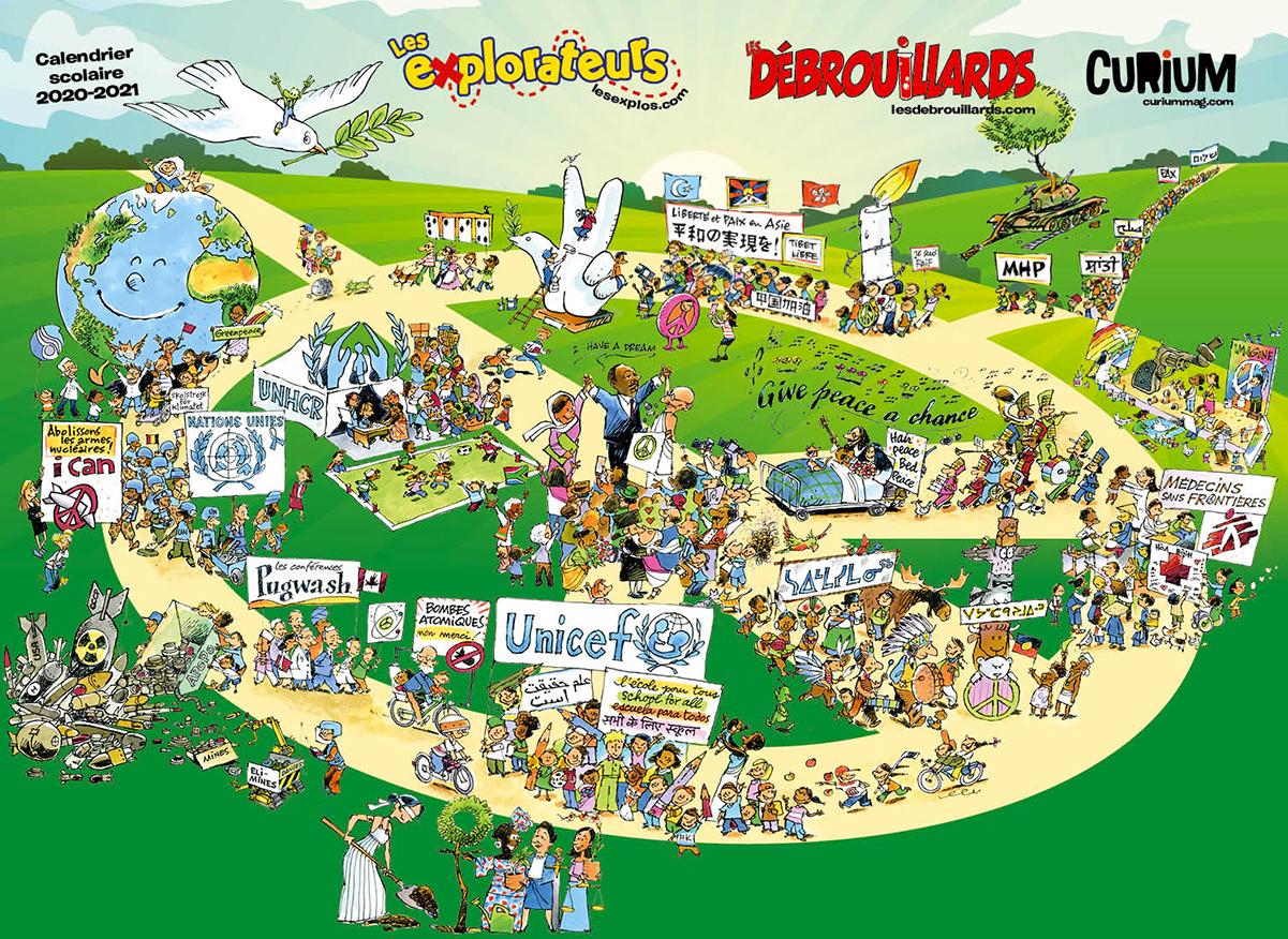 Calendrier Deb 2021 2021, Année internationale de la paix et de la confiance   Les