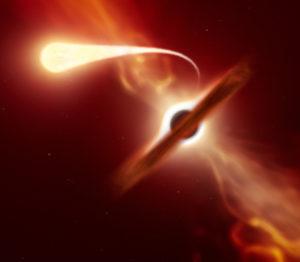 Une étoile dévorée par un trou noir !