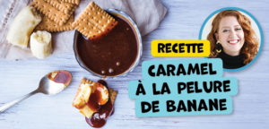 Le caramel à la peau de banane : un délice!