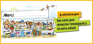 À télécharger : carte de remerciement enseignant.e